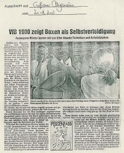 VfB 1900 zeigt Boxen als Selbstverteidigung - Gießener Allgemeine