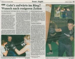 """""""Geht's aufwärts im Ring? Wunsch nach rosigen Zeiten"""" - Gießener Anzeiger"""