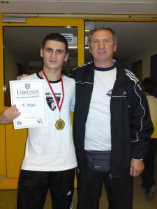 Hessenmeister 2011 Hogir Alper und Trainer Adam Piwowarski in Oberursel